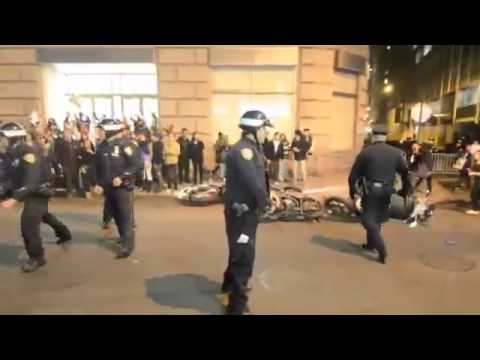 Occupy Wall Street - NYPD Gone Wild - Attacking Protesters With Motor Bikes -imaMc2YHO_E