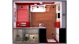 Minipiso de 32 m 2 decorar tu casa es for Decorar un minipiso