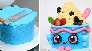 getlinkyoutube.com-SHOPKINS CAKE Yo-Chi The Frozen Yogurt   How To Make by CakesStepbyStep