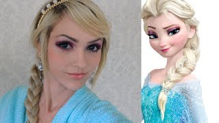getlinkyoutube.com-Elsa Frozen   make up tutorial