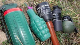 getlinkyoutube.com-Paintball Grenade vs Czech Police Grenade vs Polenböller Granate
