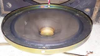 Blowing old Ford pioneer speaker with