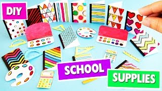 getlinkyoutube.com-DIY | Miniature Back To School Supplies - 1 - SUPER EASY - simplekidscrafts