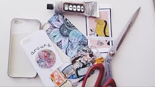getlinkyoutube.com-DIY: Custom Phone Case/Украшаем чехол для телефона