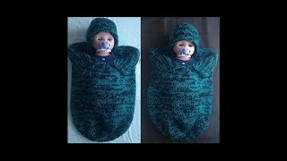 getlinkyoutube.com-Knitted Baby Cocoon & Hat Set Pattern #1 by ThePatterfamily