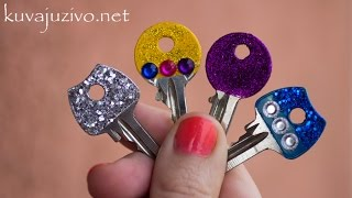 DIY - Kako ukrasiti ključeve lakom za nokte - Tutorial