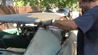 getlinkyoutube.com-65 impala green video 4 installing new top