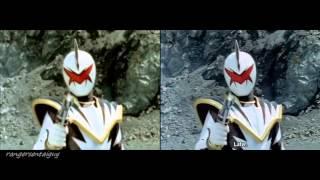 getlinkyoutube.com-Power Rangers Dino Thunder Red Ranger vs White Ranger Split Screen (PR and Sentai version)