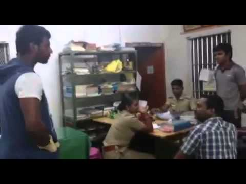 Vishal in Police Station for Caught Thiruttu Vcd