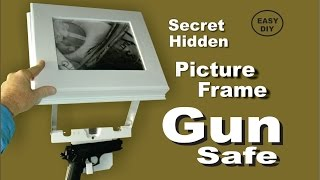 getlinkyoutube.com-How to make a Picture Frame Secret Hidden Gun Safe, easy DIY