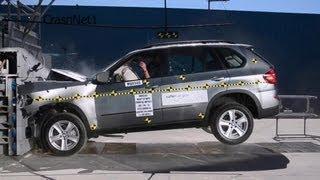 getlinkyoutube.com-2007~2013 BMW X5 | Frontal Crash Test High-speed Cam | CrashNet1
