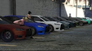 getlinkyoutube.com-GTA 5 Heist DLC Karin Kuruma / Evo 10 Car Meet