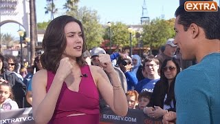 'The Blacklist's' Megan Boone Shows Mario Lopez How to Take a Fake Punch