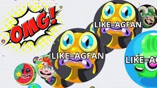 getlinkyoutube.com-Agar.io Mannequin Troll Trick Split Team Dominating Agario Mobile Gameplay!