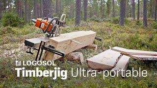 getlinkyoutube.com-Big Mill System - Timberjig | Hand-held sawmill | LOGOSOL
