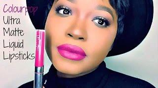 getlinkyoutube.com-13 Colourpop Ultra Matte Liquid Lipstick Swatches | Dark Skin