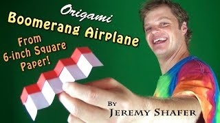 getlinkyoutube.com-Origami Boomerang Airplane from 6-inch Kami