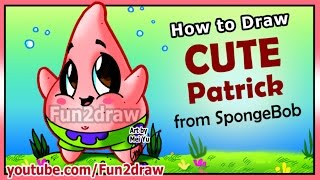 getlinkyoutube.com-How to Draw Step by Step - CUTE Patrick Star + Funny EXTRA - Spongebob Cartoons Fun2draw