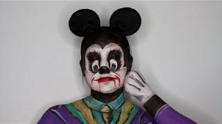 getlinkyoutube.com-Mickey Mouse Joker Mashup Face Painting Tutorial