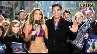 getlinkyoutube.com-Maria Menounos Honored Her Bet And Wore A Giants Bikini In The Freezing Cold