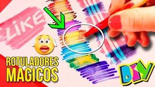 getlinkyoutube.com-¡¡ROTULADORES MÁGICOS CASEROS!! * Plumones o marcadores DIY que CAMBIAN DE COLOR 🌈 muy fáciles