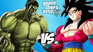 HULK vs GOKU (Super Saiyan 4)