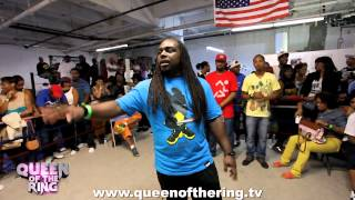 """getlinkyoutube.com-BABS BUNNY & VAGUE presents """"QUEEN OF THE RING"""" MS HUSTLE VS O-RED"""