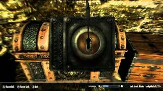 getlinkyoutube.com-Skyrim : How to get Lockpicking to 100 Fast