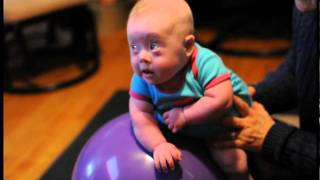 Baby with Down Syndrome in Occupational Therapy
