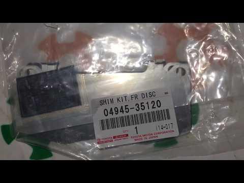 Оригинал, термо пластины передних колодок Toyota Prado 120 FJ Lexus GX 470