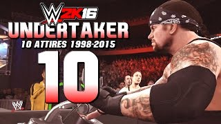 getlinkyoutube.com-WWE 2K16 Undertaker : All 10 Attires & Entrances (1998-2015)