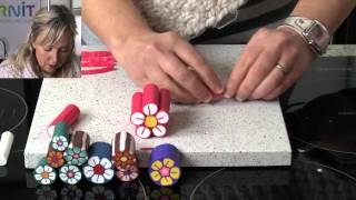 getlinkyoutube.com-Polymer Clay Tutorials - How to make a flower cane