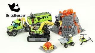 getlinkyoutube.com-Lego City 60124 Volcano Exploration Base - Lego Speed Build