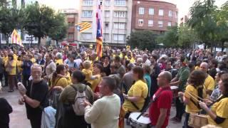 Concentració a favor del 9n Mollerussa 30-09-2014