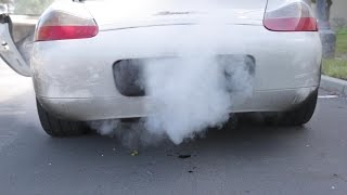 getlinkyoutube.com-Porsche Boxster White Smoke Fix