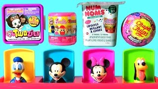 getlinkyoutube.com-Baby Mickey Mouse Clubhouse Pop Up Pals Surprise NUM NOMS TWOZIES FASHEMS BARBIE Dolls Peppa Pig