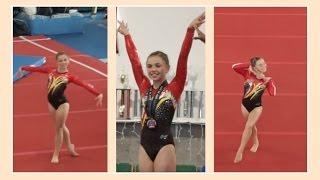 getlinkyoutube.com-Katie Qualifies For Level 9 Gymnastics | Flippin' Katie