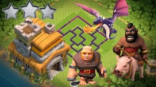 Best base for TH7(clash of clans )anti-GIANT,anti-DRAGON and ant -HOG with AIR SWEEPER and replays