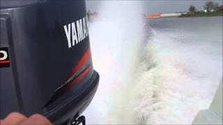 Phantom 21 + 200pk yamaha varen op de IJssel 112 kmh gps