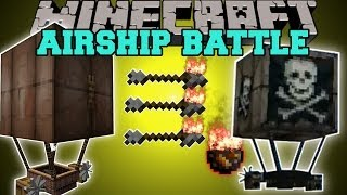 getlinkyoutube.com-Minecraft: BATTLE AIRSHIPS (TRAVEL AROUND AND FIGHT EVIL SKY PIRATES!) Mod Showcase