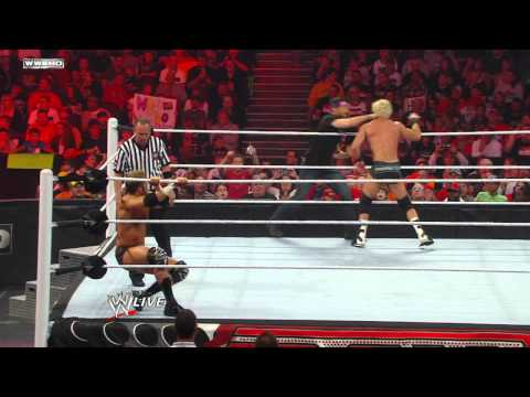 Raw - Zack Ryder with Hugh Jackman vs. Dolph Ziggler with Vickie Guerrero