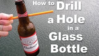 getlinkyoutube.com-DIY How to easily drill a hole in a Glass Bottle