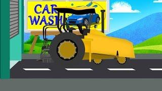 getlinkyoutube.com-Asphalt Paver Car Wash   Video For Kids   Car Wash Videos   Videos For Baby & Toddlers