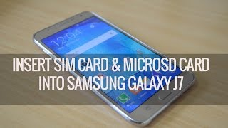 getlinkyoutube.com-How to Insert SIM and Micro SD card into Samsung Galaxy J7