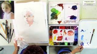 getlinkyoutube.com-Watercolor Techniques with Janet Rogers - Creating Flesh Tones-Part 2