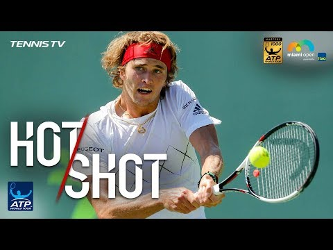 Hot Shot: Zverev Shows Incredible Speed To Save Set Point Miami 2018