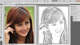 getlinkyoutube.com-Tutorial Photoshop » Cara Merubah Foto Jadi Lukisan Pensil