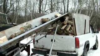 getlinkyoutube.com-Diy fire wood converyor in action