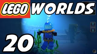 getlinkyoutube.com-LEGO Worlds - E20 - Underwater Exploration! SCUBA Diving! (Gameplay Playthrough 1080p60)