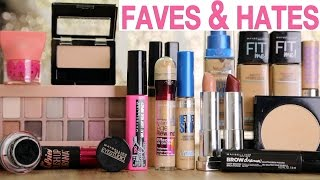 getlinkyoutube.com-DRUGSTORE MAKEUP Favorites & Hate it's | Maybelline